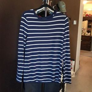 Cute navy and white striped long sleeve shirt
